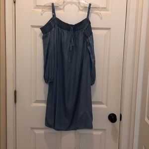 Dresses & Skirts - Off the shoulder blue jean dress